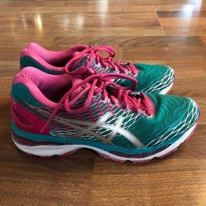 ASICS Gel Nimbus 18 Teal Pink Shoes Sneakers 9